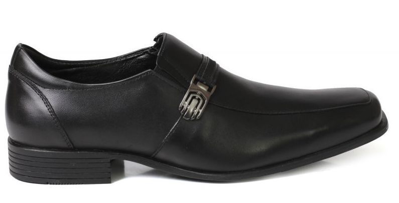Sapato Social Tchwm Shoes Confort  Fivela Couro - Preto