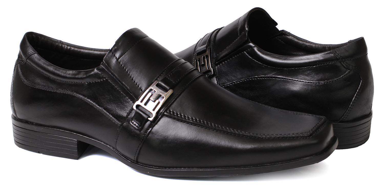 b33c7cb01 ... Sapato Social Masculino Fivela em Couro Liso ...