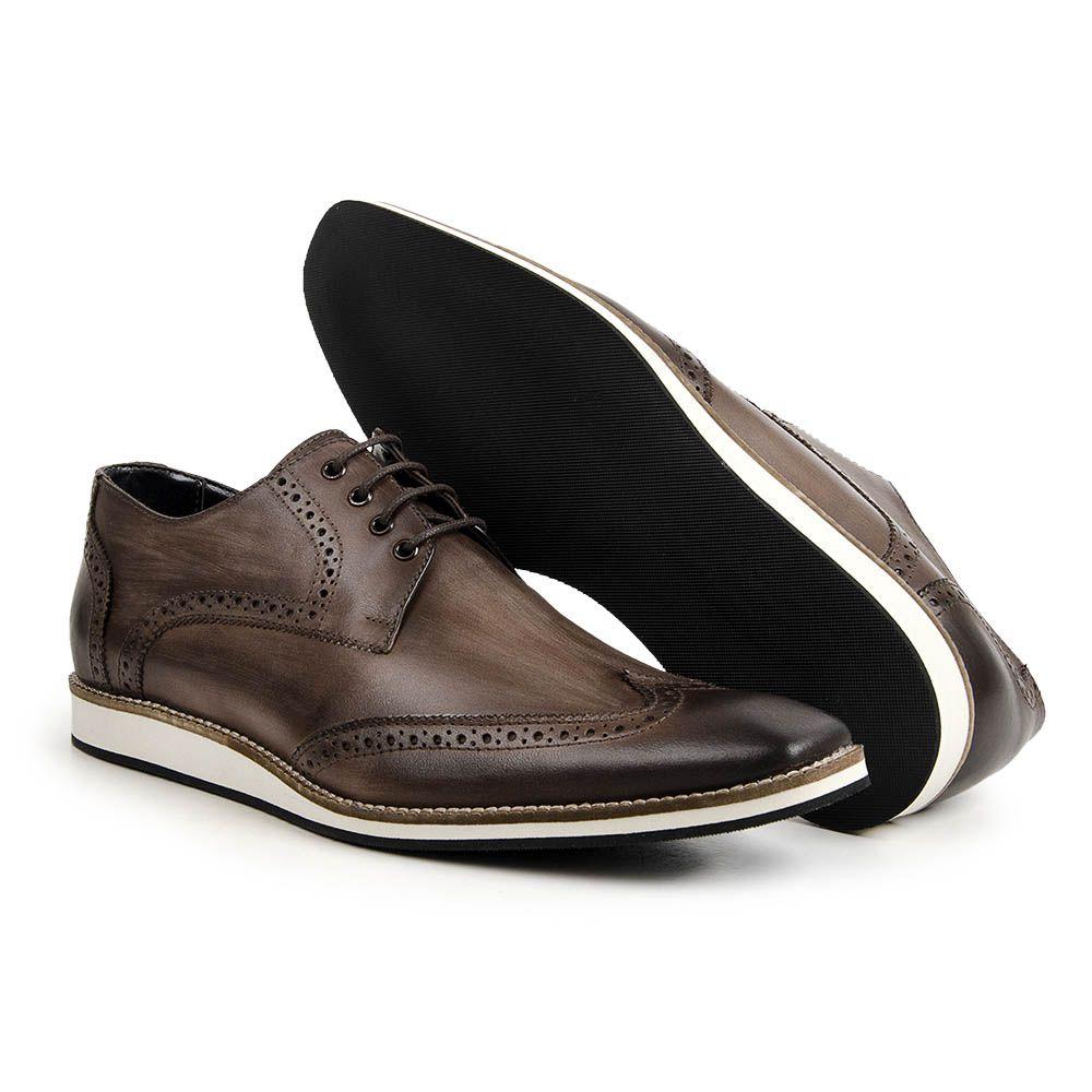 7a329b06e31d0 Sapato Social Oxford Bigioni Masculino Couro Estonado Sapato Social Oxford Bigioni  Masculino Couro Estonado
