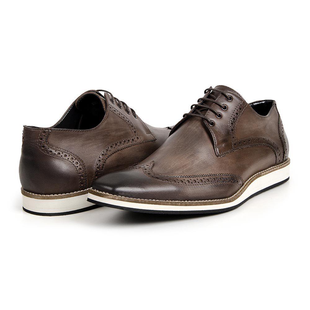 24938b9780 ... Sapato Social Oxford Bigioni Masculino Couro Estonado ...