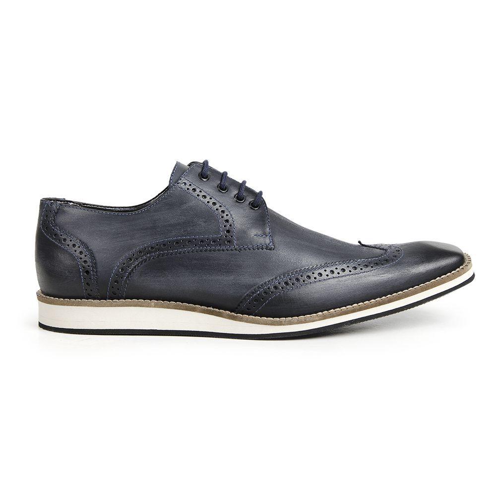 Sapato Social Oxford Bigioni Masculino Couro Estonado