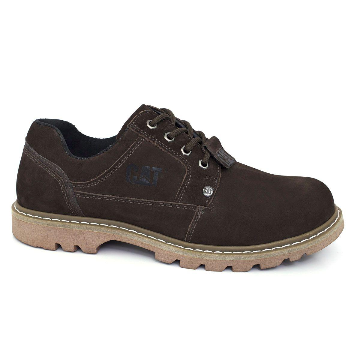 Sapato Tênis Caterpillar Masculina Second Shift  Couro - Brown