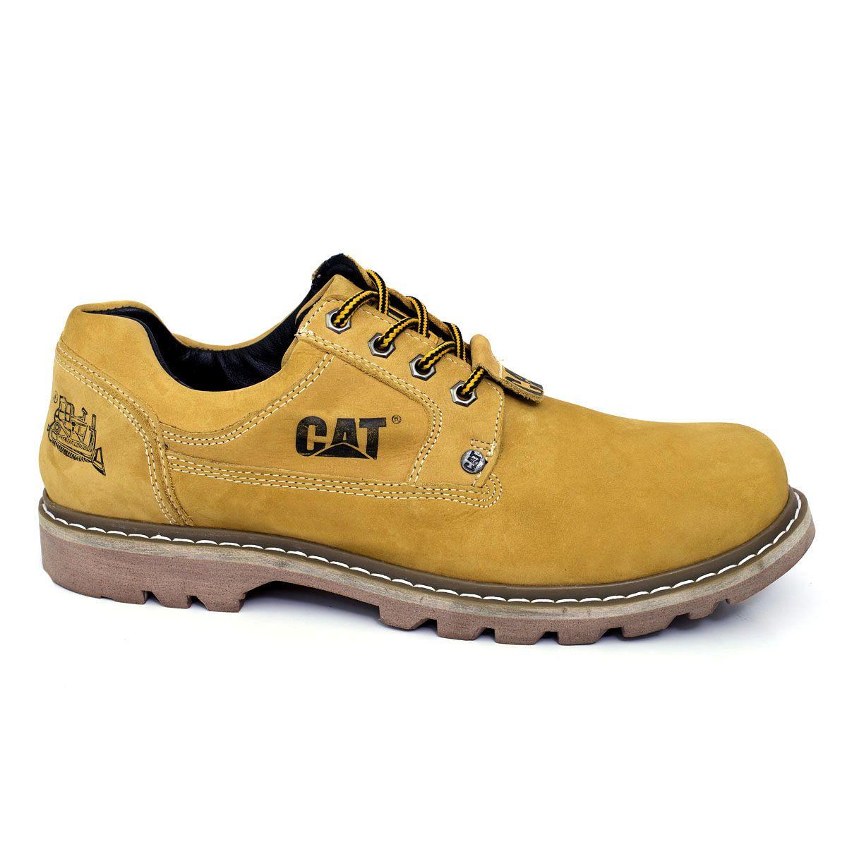 85284b5ff4 Sapato Tênis Caterpillar Second Shift Couro - Yellow