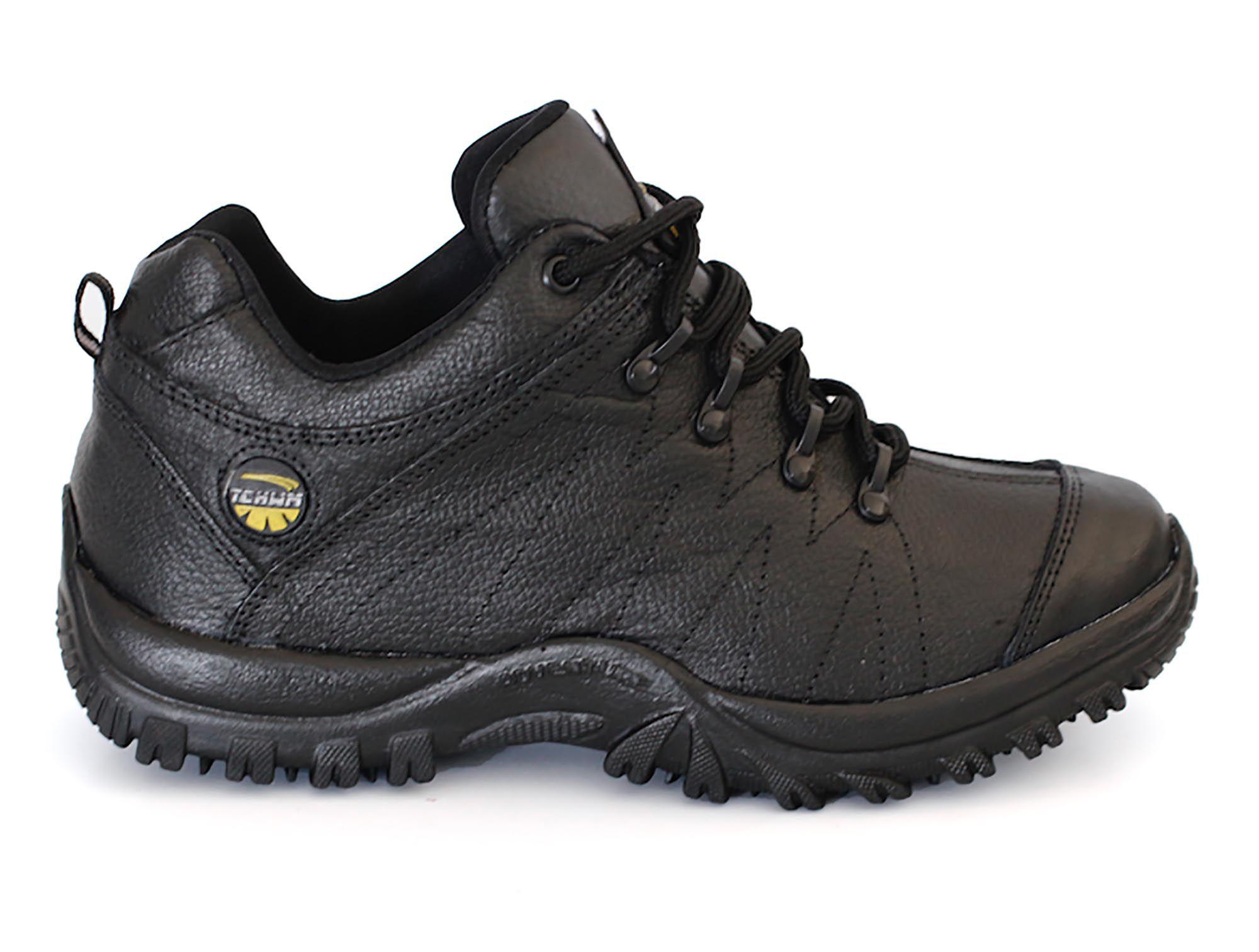 Tênis Adventure Cano Masculino Tchwm Shoes Couro Floter - Preto