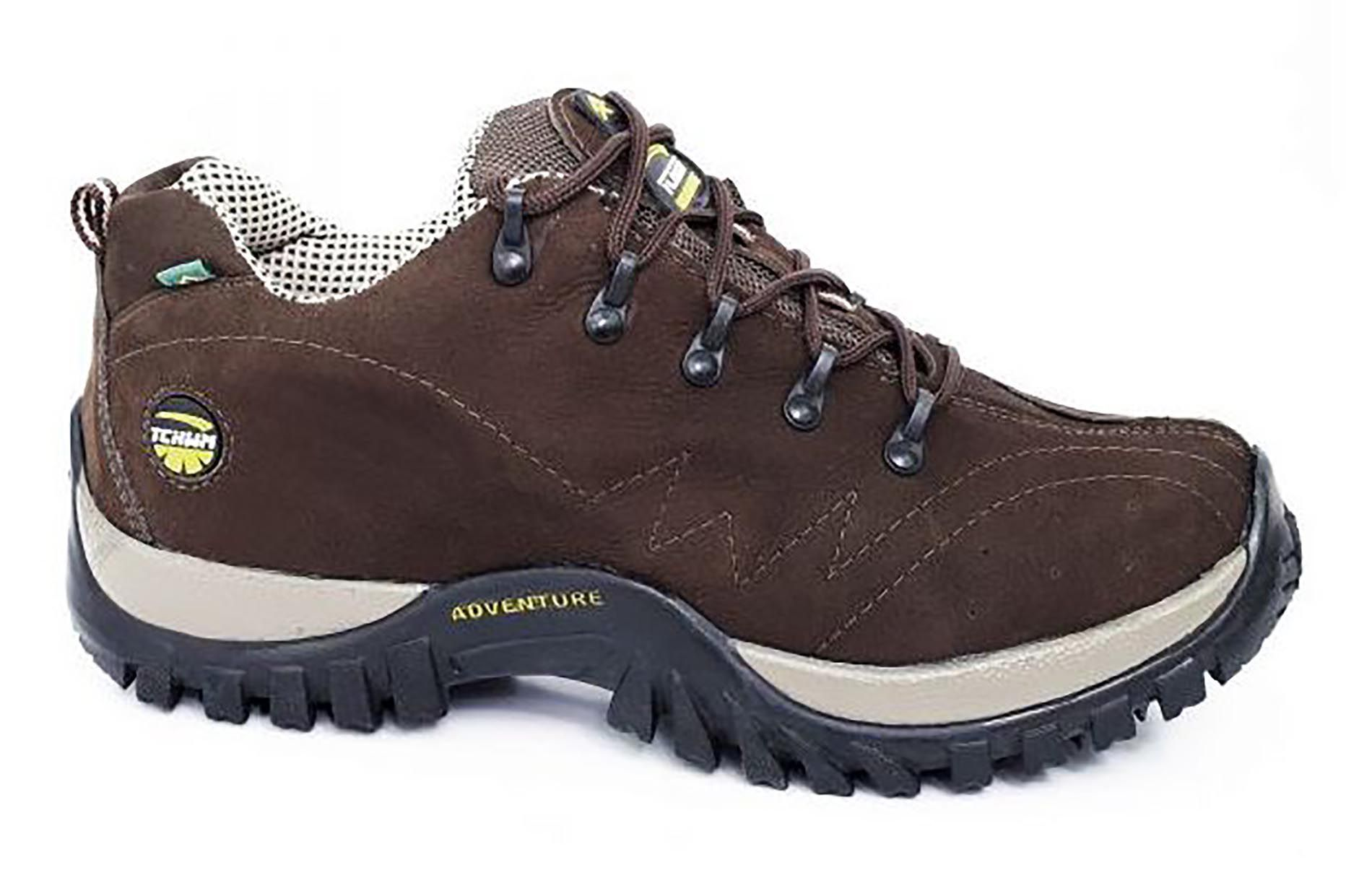 Tênis Adventure Cano Curto Masculino Tchwm Shoes Couro Nobuck - Marrom