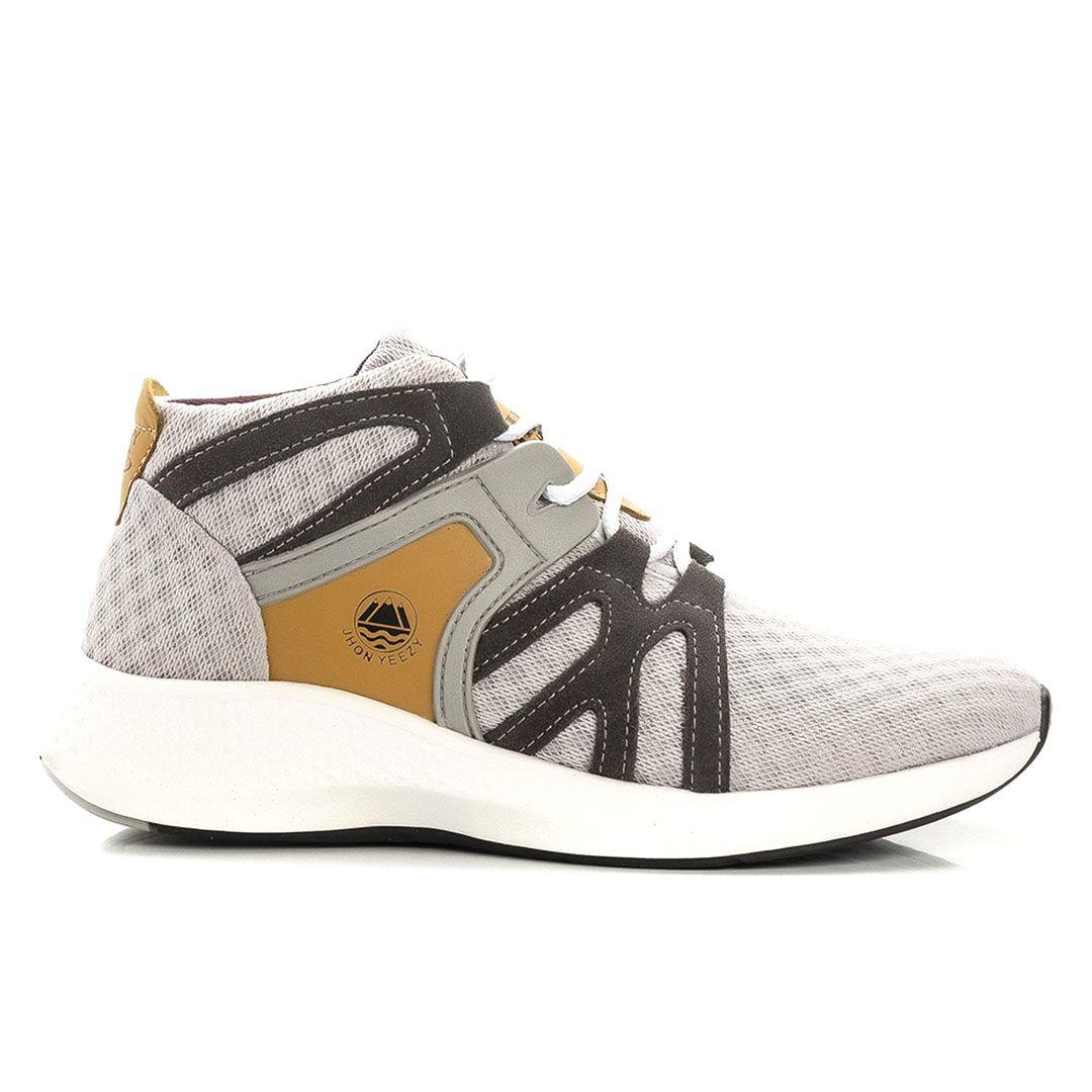 Tênis  Jhon Boots  Masculino Leve Sneakers 360° Urban - Cinza