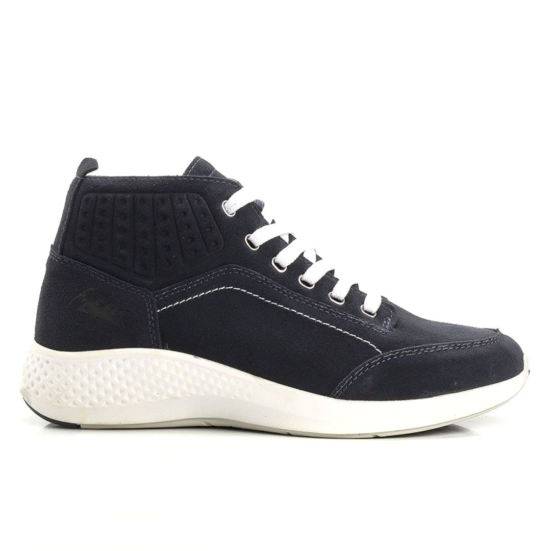 Tênis Jhon Boots Masculino Sneakers Couro Leve  - Azul Marinho