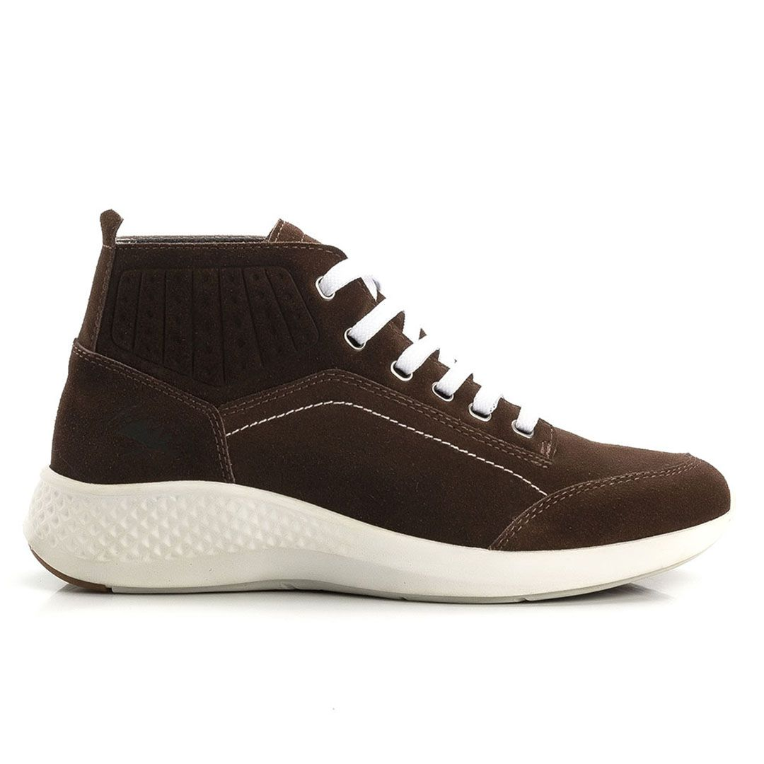 Tênis Jhon Boots Masculino Sneakers Couro Leve - Marrom