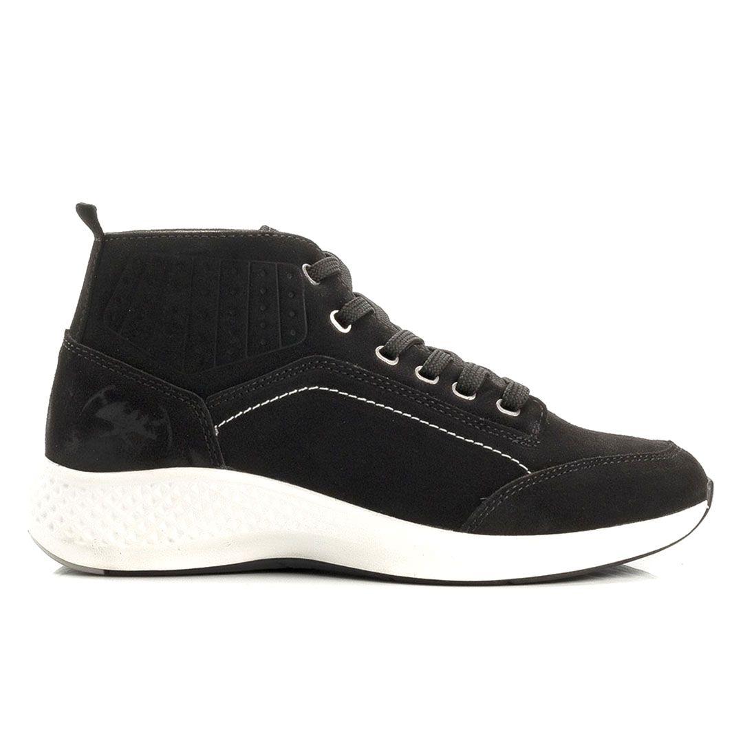 d7c608351 Tênis Jhon Boots Yeezy Sneakers Couro - Preto