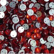 Chaton Costura Redondo Vermelho 6mm a 16mm