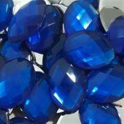 Chaton Colagem Oval Cor Azul Escuro