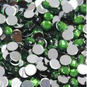 Chaton Colagem Redondo Cor Verde 4mm a 12mm