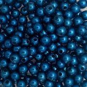 Pérola ABS Cor Azul Escuro 4mm a 10mm - 500gr