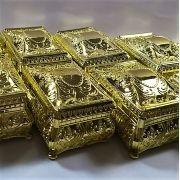 Porta Joias Caixinha Dourada -  12 peças