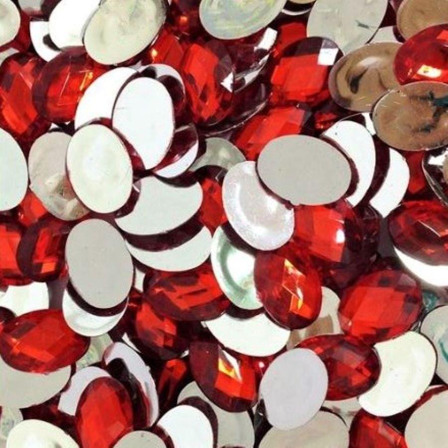 Chaton Colagem Oval Cor Vermelho