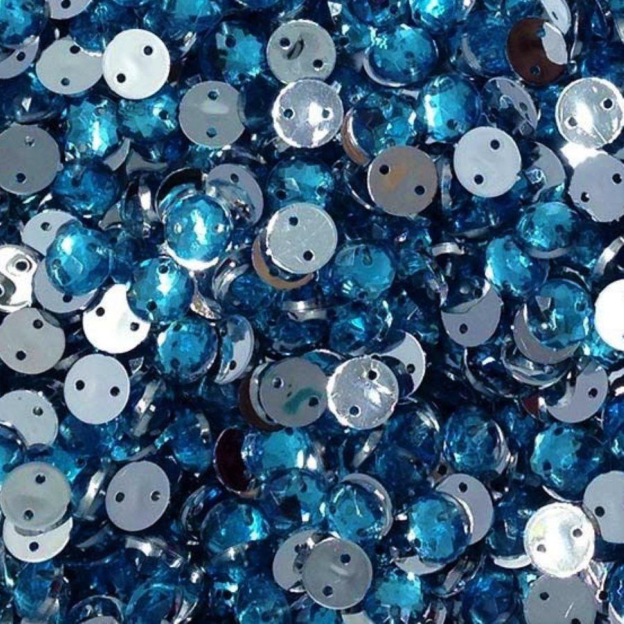 Chaton Costura Redondo Azul Claro 6mm a 16mm