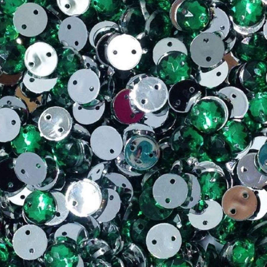 Chaton Costura Redondo Verde Escuro 6mm a 16mm