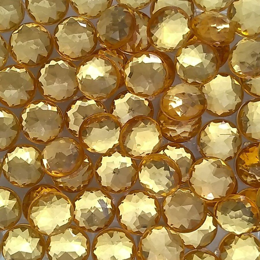 Chaton Colagem Redondo Cor Dourada 4mm a 12mm  - SanBiju
