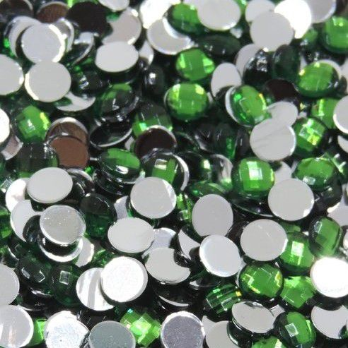 Chaton Colagem Redondo Cor Verde 4mm a 12mm