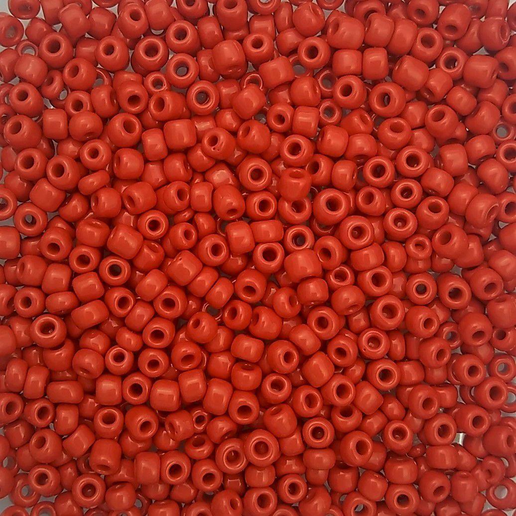 Miçanga 6/0 Leitosa cor Vermelha - 500gr