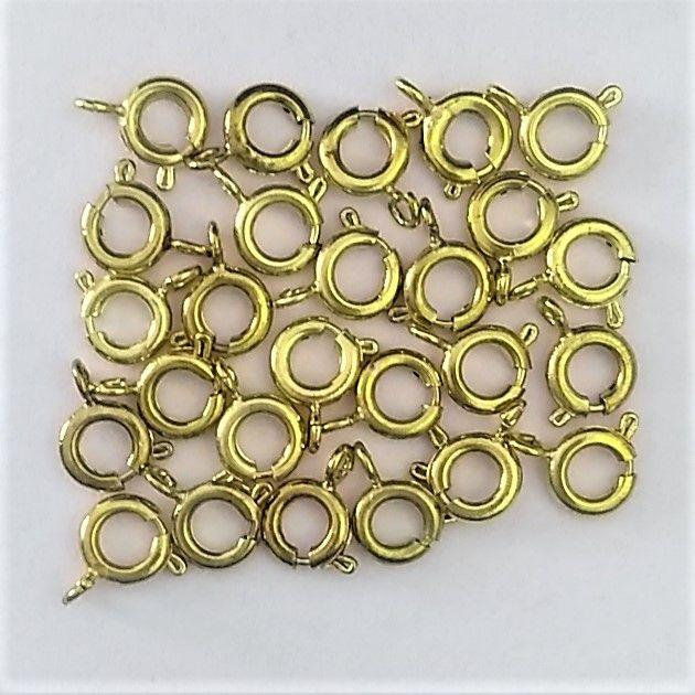 Mini Fecho Tipo Bóia Dourado - 25 peças