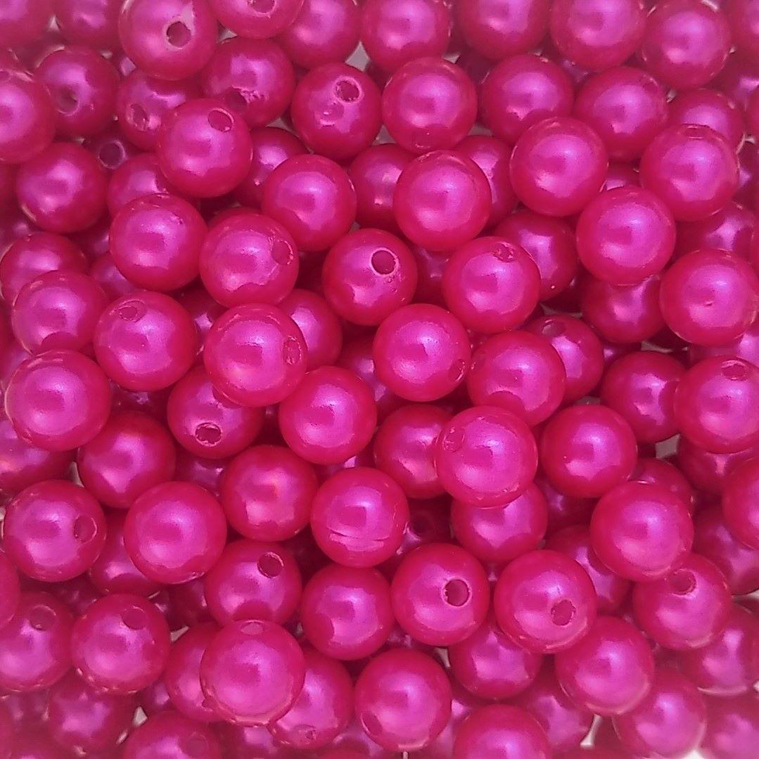 Pérola ABS Cor Rosa Pink 4mm a 10mm - 500gr