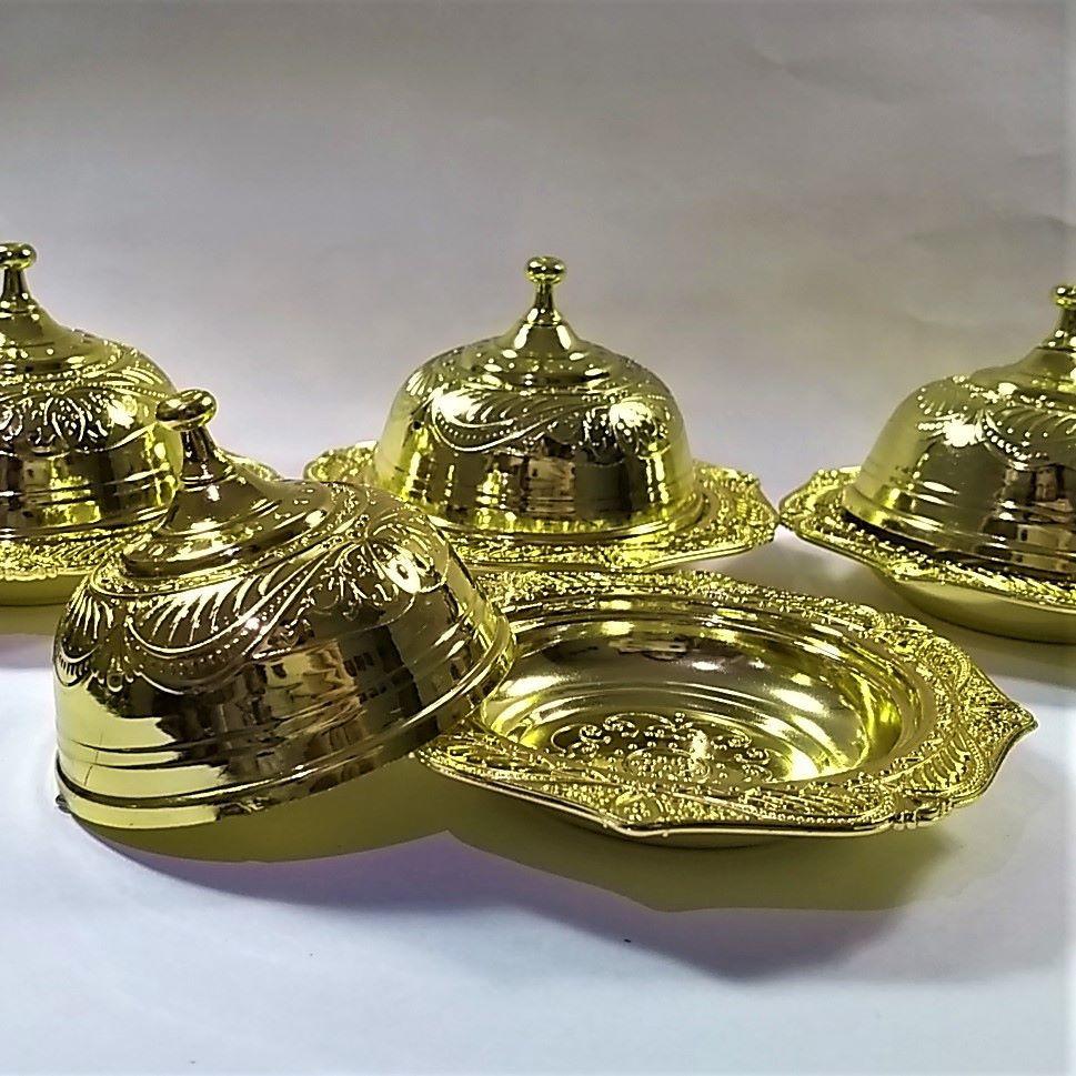 Porta Joias Bandeja Dourada - 12 peças  - SanBiju