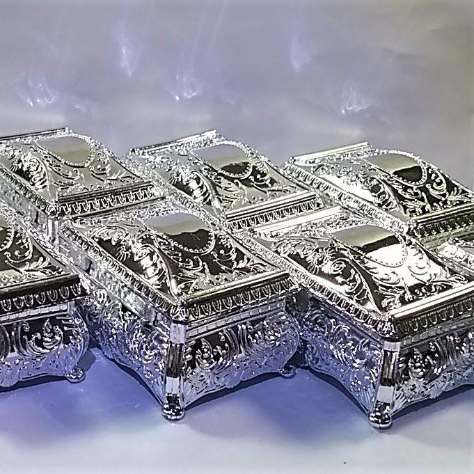 Porta Joias Caixinha Prata - 12 peças