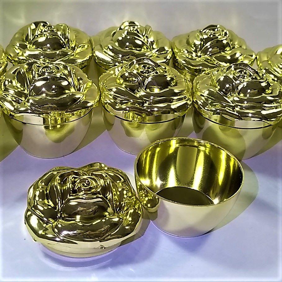 Porta Joias Flor Dourada - 12 peças