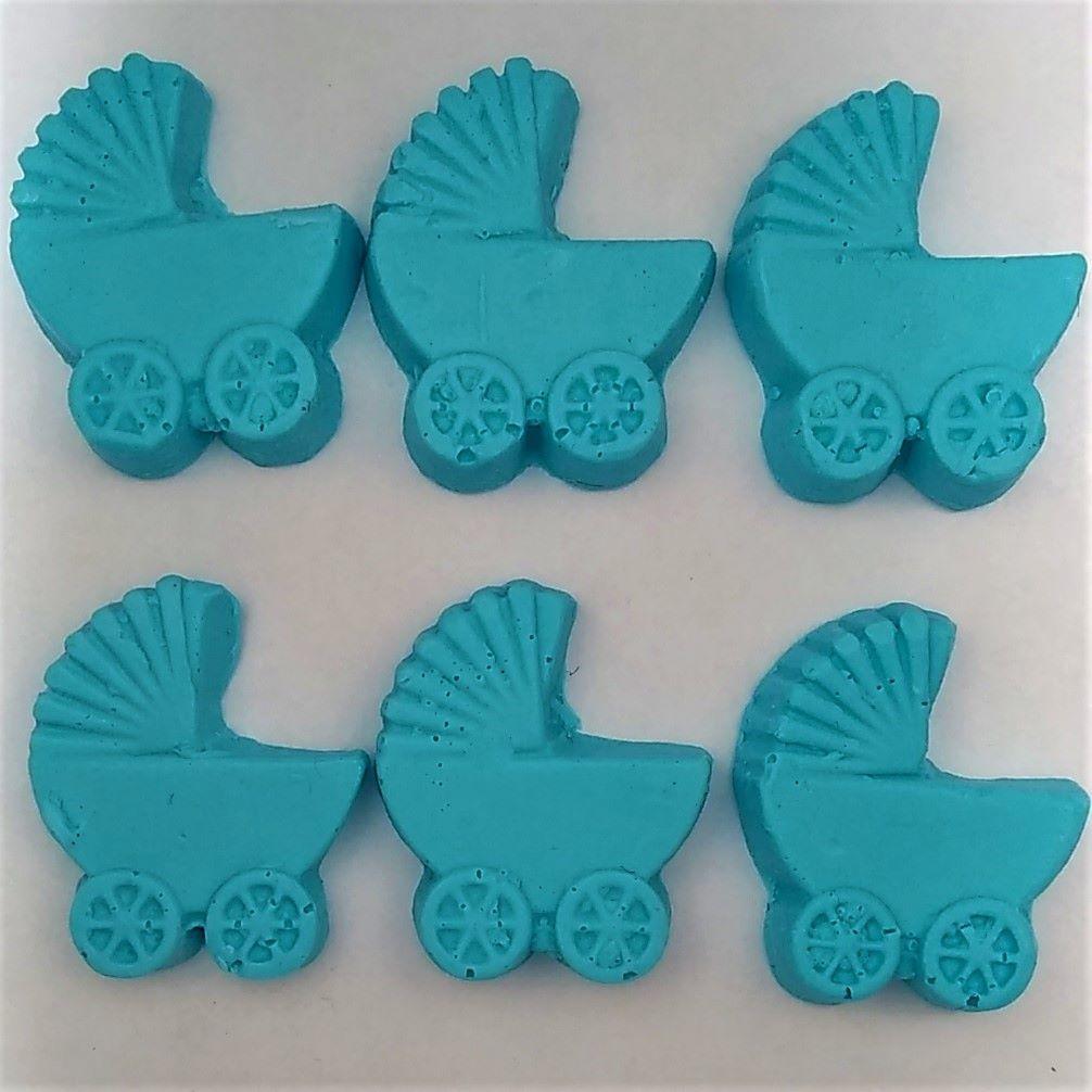 Sabonete Carrinho de Bebe Azul  - 30 peças