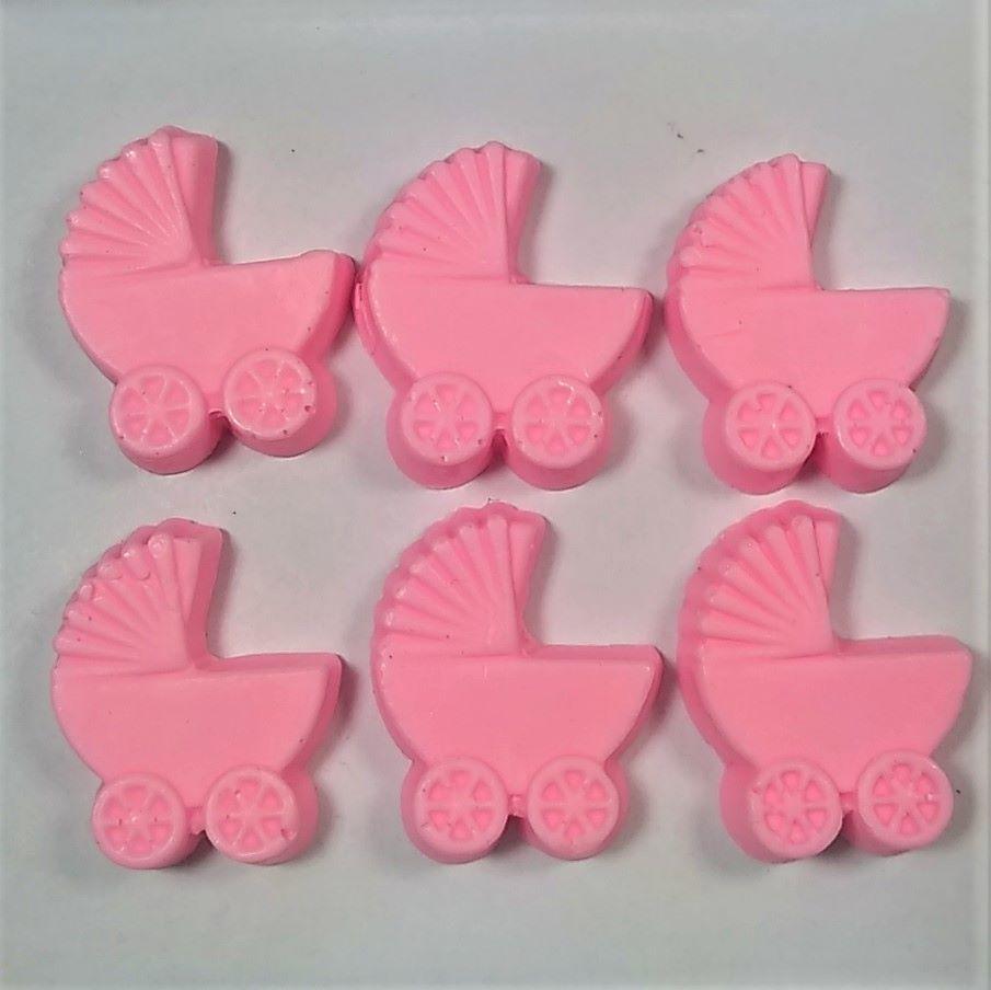 Sabonete Carrinho de Bebe Rosa  - 30 peças
