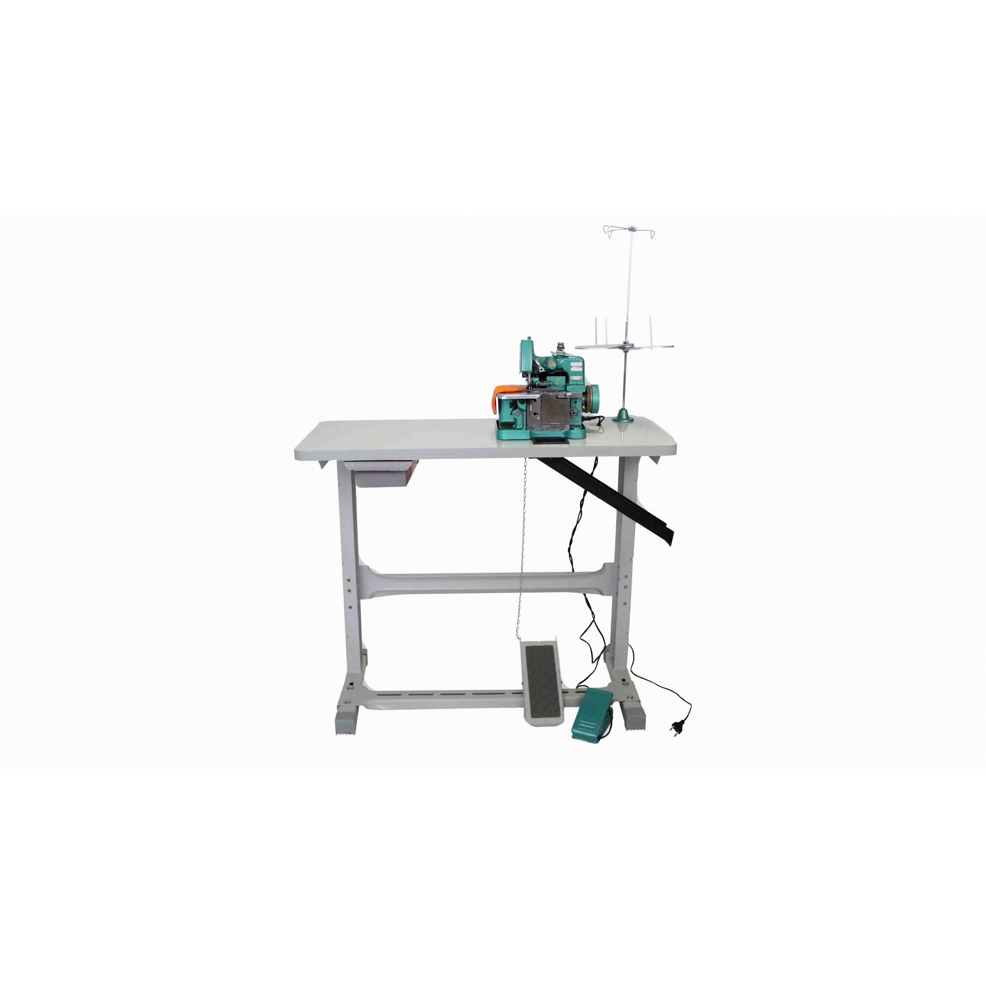 Máquina de costura Overloque Semi Industrial com Mesa Overlock FLAWIL