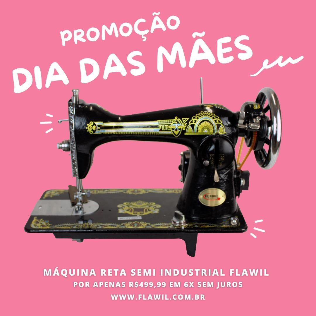 PROMOÇÃO DIA DAS MÃES - Máquina de Costura Reta Doméstica Retrô