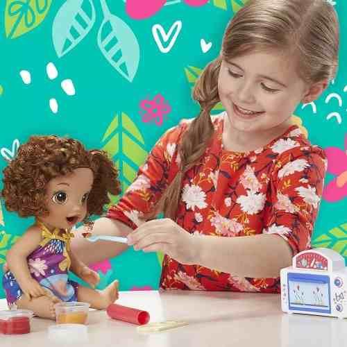 Boneca Baby Alive Super Snacks Meu Forninho Morena - Hasbro