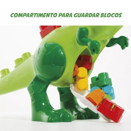 Baby Land Dino Jurássico Com 30 Blocos - Cardoso