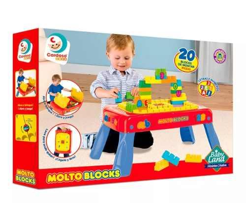 Mesa Infantil Mesinha Criativa Baby Land Cardoso Com Blocos