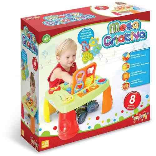 Mesa Criativa Bebê Infantil Maral Didática Interativa