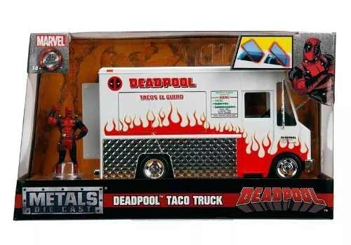 Boneco Dead Pool Caminhão Food Truck 1:24 Jada Toys Dtc