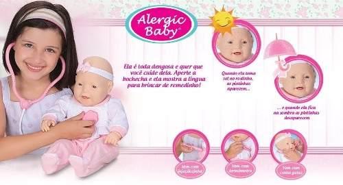 Boneca Estetoscópio Médica Doentinha Alergic Baby 5260