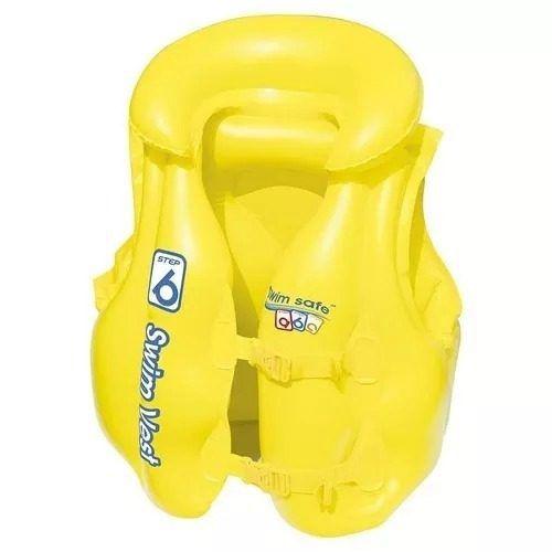 Colete Infantil Inflável Amarelo Premium - Mor 1814