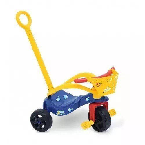 Triciclo Peixinho C/empurrador Proteção E Cestinha - Xalingo
