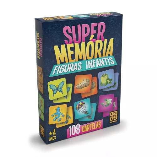 Jogo Da Memória Super Memória Figuras Infantis - Grow