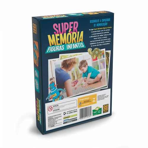 Jogo da Memoria  Super Memória Figuras Infantis- Grow