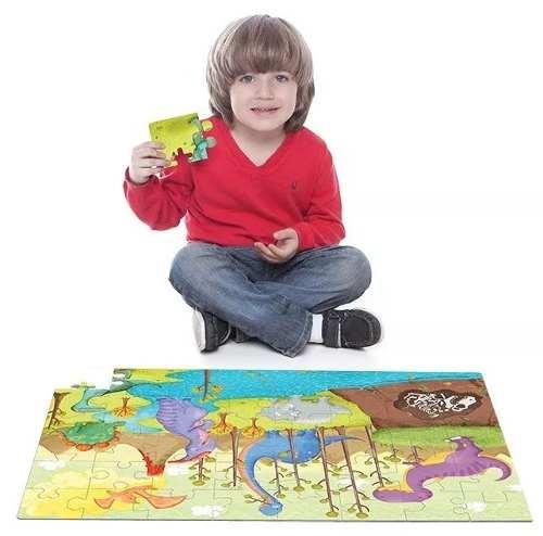 Quebra Cabeça Infantil  Dinos 48 Peças - Toyster