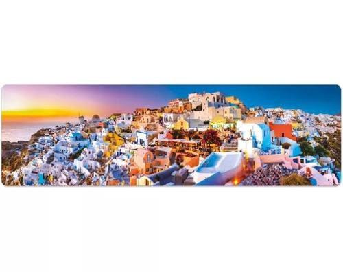 Quebra-cabeça Panorâmico 1500 Pç - ôr Do Sol Em Santorini