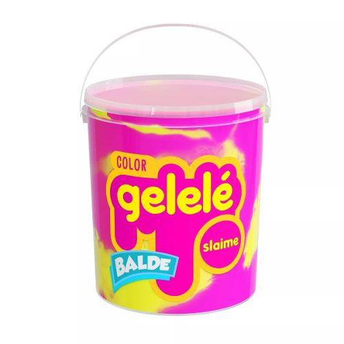 Gelelé Slime Massinha Meleca Color Kit 5 Unids Balde Sortido