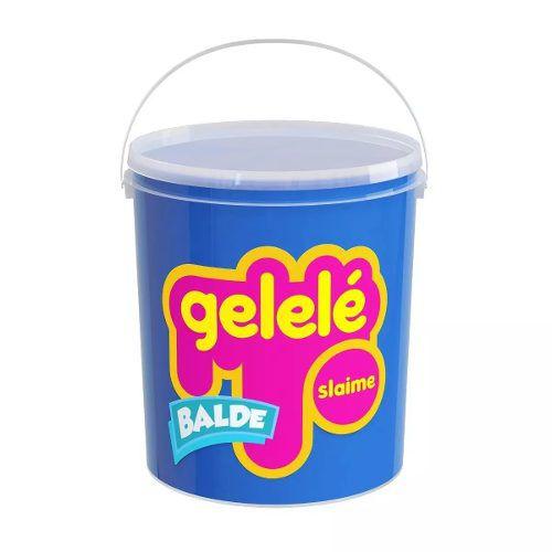 Gelelé Slime Meleca Massinha Tradicional Balde 5 Unid. Sort.
