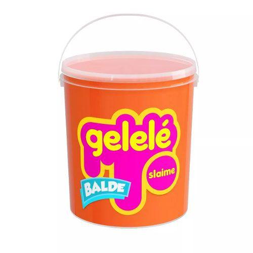 Gelelé Slime Meleca Massinha Tradicional Balde 3 Unid. Sort.