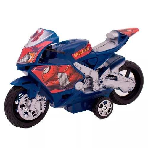 Kit Com 3 Mini Motos Fricçao Homem Aranha Toyng