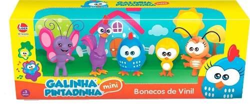 Galinha Pintadinha Mini Com 5 Bonecos Coleção Família Lider